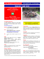 english camp 2015 - Associazione di volontariato Centro educativo