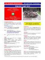 english camp 2015 - Associazione di volontariato Centro educativo