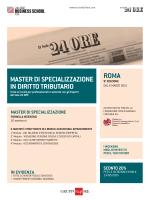 master di specializzazione in diritto tributario