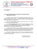 Circolare Graduatoria Provvisoria Liceo Scientifico
