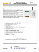 PRODUCT DATA SHEET (SCHEDA TECNICA DI