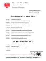Calendario uscite 2015 - Il mondo degli Schuetzen