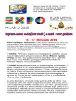 expo 2015 16-17 maggio 2015 2 giorni