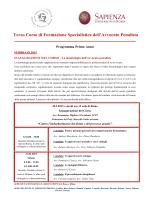 Terzo Corso di Formazione Specialistica dell`Avvocato Penalista
