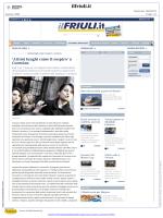 Il Friuli - `Attimi lunghi come il sospiro` a Cormòns