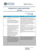 FAQ predisposte dal Presidio della Qualità di Ateneo sulla base dei