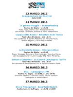 Il programma del Lucca Teatro Festival