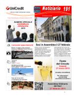 Notiziario 191 - UniCredit Circolo Udine Pordenone Gorizia