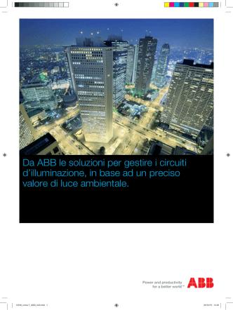 Da ABB le soluzioni per gestire i circuiti d`illuminazione, in base ad