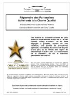 Répertoire des Partenaires Adhérents à la Charte Qualité