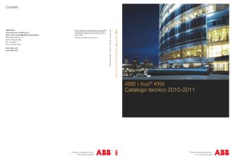 ABB i-bus® KNX Catalogo tecnico 2010-2011
