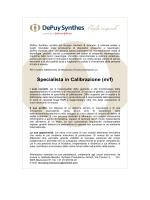 Specialista in Calibrazione (m/f)