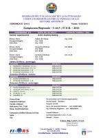 1^ fase programma orario Campionato Regionale 2015