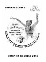 Programma domenica 12-04-15
