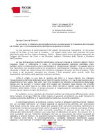 Roma, 25 maggio 2014 Prot. 182/2014 DP/fs Al Ministro della Salute