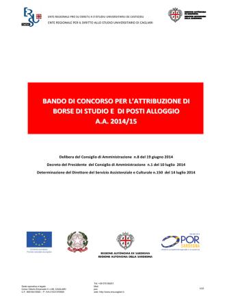 Borse e Alloggio - ERSU Cagliari