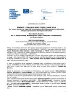 PREMIO LEONARDO UGIS IV EDIZIONE 2014