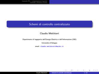 02.1 - Schemi di controllo centralizzato