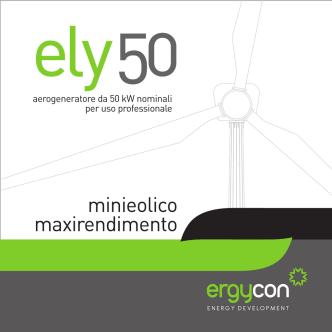 aerogeneratore da 50 kW nominali per uso professionale