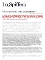 """""""Nessuna melina sullo Zooprofilattico"""""""