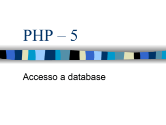 Accesso a database