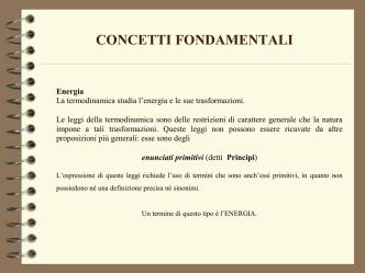 11. Concetti fondamentali termodinamica