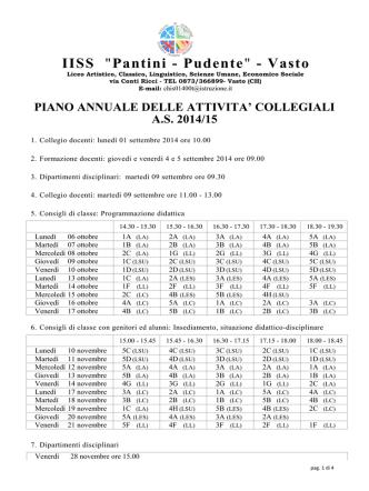 Consulta online le attività collegiali 2014/15