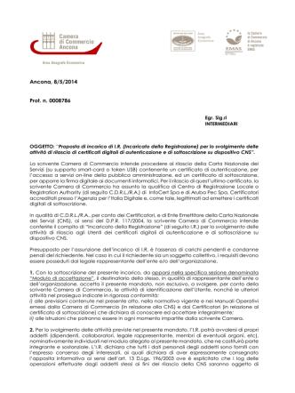 comunicato di pubblicazione prot. n° 1117
