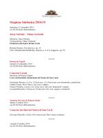 Stagione Sinfonica 2014/2015 - Ordine degli Ingegneri della