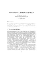Superstringa, D-brane e orbifolds di Lucrezia Ravera