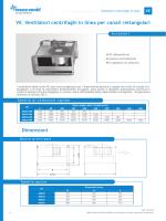 VE Ventilatori centrifughi in linea per canali rettangolari Dimensioni