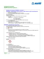 Scheda di sicurezza MAPEFLEX PB 27 parte A -