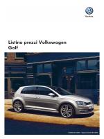 Listino prezzi Volkswagen Golf