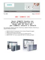 HMI: SIMATIC IPC Nuovi SIMATIC Bundle con WinCC RT