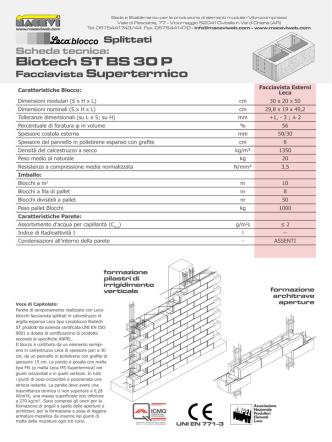 Biotech ST BS 30 P Facciavista Supertermico Splittati