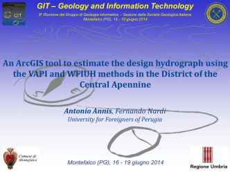 ArcGIS tool to estimate hydrograph using the VAPI and WFIUH