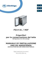 FG14 UL / NSF Frigoriferi per la conservazione del latte MANUALE