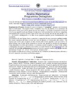 Analisi Matematica Programma Dettagliato
