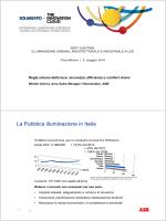 La Pubblica illuminazione in Italia