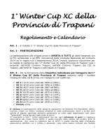 1° Winter Cup XC della Provincia di Trapani