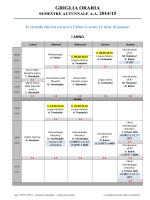 Orario generale semestre autunnale 2014