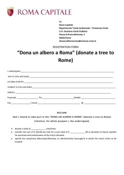 """Dona un albero a Roma"" (donate a tree to Rome)"
