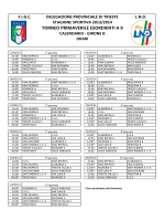 Calendario - Roianese calcio