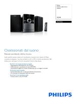 MCM166/12 Philips Sistema audio micro classico
