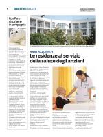 ANNI AZZURRI/1 Le residenze al servizio della salute degli anziani