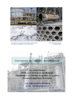 Corrosione dei metalli - introduzione - DipCIA