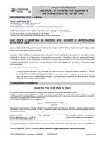 apertura di credito per sconto o anticipazioni effetti/fatture