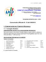 Comunicato - Figc - Comitato Regionale Toscana