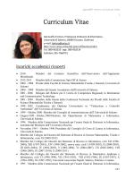 Genoveffa Tortora, Curriculum Vitae