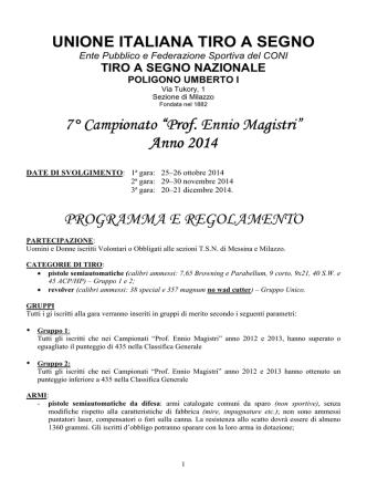 "7° Campionato Campionato Campionato ""Prof. Ennio"